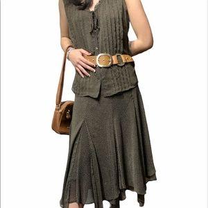 Vintage Conrad C Flowy Skirt Set